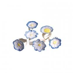 Rond de Serviette porcelaine - Fleur, Ø 6 cm