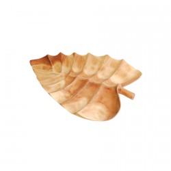 Plateau bois d'acacia - Feuille, L. 50 cm