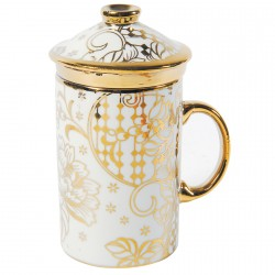 Service à thé porcelaine - Tisanière Impériale doré, H. 12 cm(pièce)
