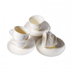 Tasse àCafé porcelaine - Dragon blanc, H. 7 cm (lot de 6)