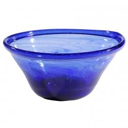 Coupelle verre soufflé - Empire Romain bleue, H. 18 cm
