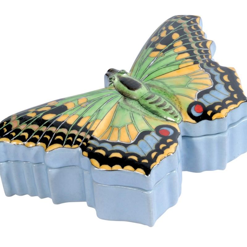 boite papillon porcelaine pm boite coffret bijoux. Black Bedroom Furniture Sets. Home Design Ideas