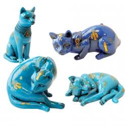 Bibelot - Léonard de Vinci, Egypte : Set 4 petits chats