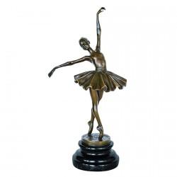 Sculpture bronze - Danseuse 19ème, H. 32 cm