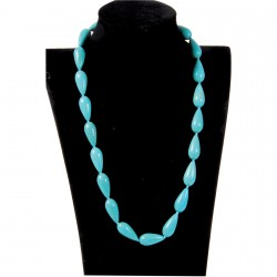 Collier - Gouttes Turquoises, L. 45 cm