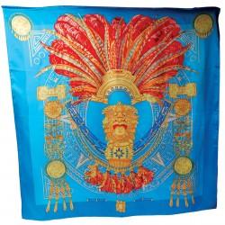 Carré soie - Amérindien, L. 105 cm