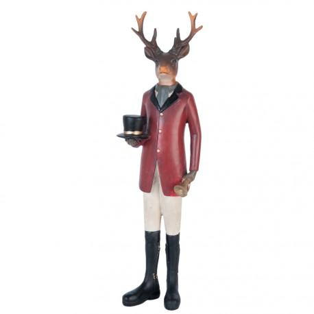 Figurine - Cerf Avec Haut-De-Forme, H. 35 cm