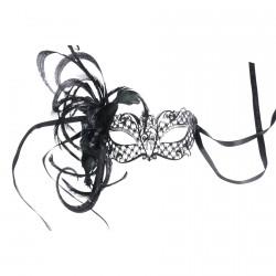 Masque Civette - Toupet noir, L. 20 cm
