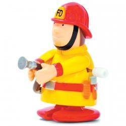 Jouet Mécanique - Pompier, H. 6,5 cm