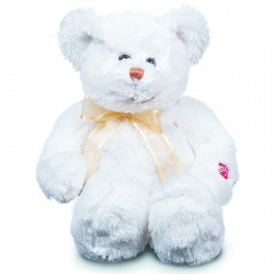Peluche / Veilleuse - Grand Ours Blanc, H. 41 cm