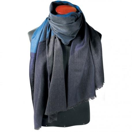 Foulard - George Sand bleu, L. 190 cm