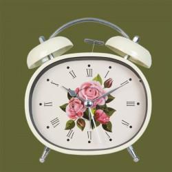 Reveil Fleuri, H. 13 cm