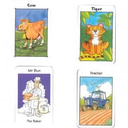 Jeux de Société - Cartes pour Enfants, L. 9 cm (set de 4)