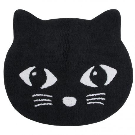 tapis de bain chat noir l 62 cm collection chats. Black Bedroom Furniture Sets. Home Design Ideas