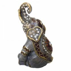 Boite - Eléphant, H. 7 cm