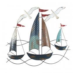 Décor Mural - Bateaux sur l'Eau, H. 48 cm