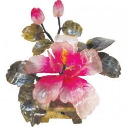 Sculpture - Arbre Bonzaï : Orchidée Eternelle, H. 20 cm