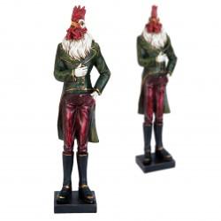 Figurine - Gentleman Coq, H. 36 cm