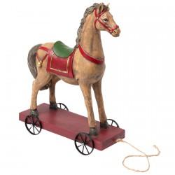Figurine - Cheval de Caroussel, H. 28 cm