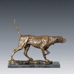 Sculpture bronze - Chien de Chasse, H. 30 cm