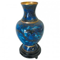 Vase - Dragon Bleu, H. 20 cm (Lot de 2)