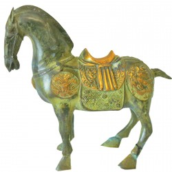 Sculpture bronze - Cheval Tang, H. 24 cm
