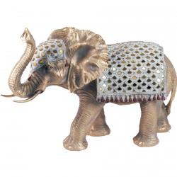 Figurine - Eléphant Rajasthan, H. 32 cm