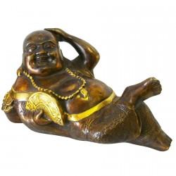 Sculpture bronze - Bouddha Tranquillité, L. 22 cm