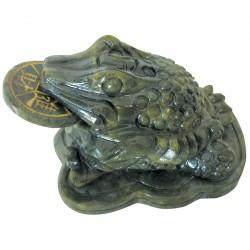Sculpture - Grenouille Fortune à 3 Pattes, L. 9 cm