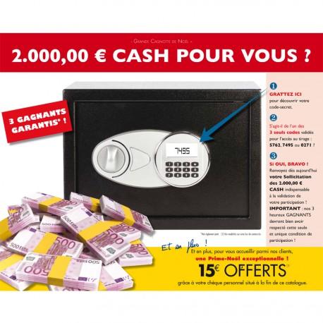 Participation - Grande Cagnotte de Noël - 2000 € Cash !