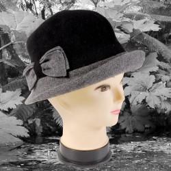 Chapeau - Cloche Bicolore Noir, TU