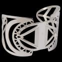 Bracelet Manchette - Celtique argenté, ø 4,5 cm