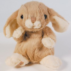 Peluche - Lapin taupe, H. 15 cm