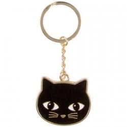 Porte-clés - Chat Noir, H. 9 cm