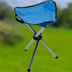 Tabouret Pliable - 600D Bleu, H. 36 cm