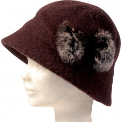 Chapeau Cloche - Louise-Brooks marron, TU