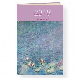 Agenda de Poche 2019 - Monet : Nymphéas, H. 16 cm