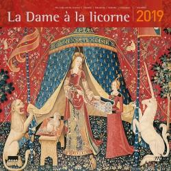 Calendrier 2019 - Dame à la Licorne, L. 30 cm