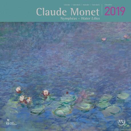 Calendrier 2019 -  Monet : Nymphéas, L. 30 cm