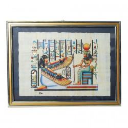 Papyrus - Néfertari face à Hathor, L. 45 cm