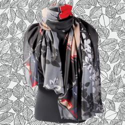 Etole - Feuillages Noire,L. 190 cm