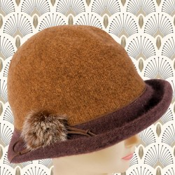 Chapeau Cloche - 2 Tons Marron, TU