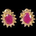 Boucles d'oreilles Clous - Pierre Préciseuse : Rubis 1 carat