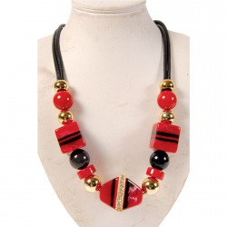 Collier - Sixties rouge, L. 45 cm