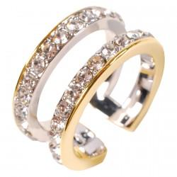 Bague - Swarovski : Double Anneau Diamant