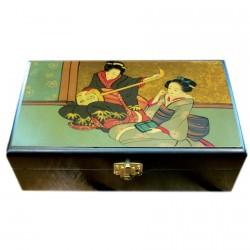 Boite à Bijoux - Geisha Musicienne, L. 18 cm