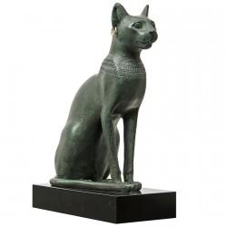 Sculpture - Chatte de la déesse Bastet, H. 19,5 cm