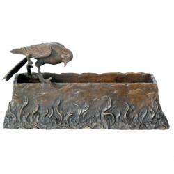 Mangeoire pour Oiseaux - Bronze, L. 26 cm