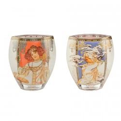 Vase - Mucha : Automne / Hiver, H. 21 cm