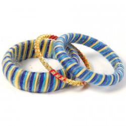 Bracelet - Trio Cathare bleu et jaune